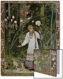 """Vassilissa in the Forest  Illustration from the Russian Folk Tale  """"The Very Beautiful Vassilissa"""""""