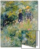 Conversation in a Rose Garden Acrylique par Pierre-Auguste Renoir