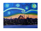 Starry Night in Istanbul Turkey Van Gogh