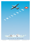 Swiss Alps - Swissair DC-4 - The Airline of Switzerland