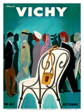 Vichy, France - Resorts and Spas - May through October (Mai-Octobre) Reproduction d'art par Bernard Villemot
