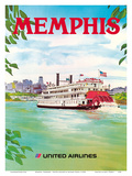 Memphis  Tennessee - United Airlines - Mississippi River Paddlewheel Boat