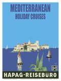 Mediterranean Holiday Cruises - Hamburg-Amerika Linie (Hamburg-American Line) HAPAG - Reisebüro