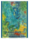 The Magic Flute - Mozart - Metropolitan Opera Reproduction d'art par Marc Chagall