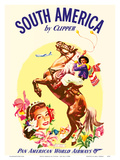 South America by Clipper - Pan American World Airways - Argentinian Gaucho