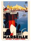 Marseille  France - Gateway to North Africa - Paris-Lyon-Mediterrannee (PLM)  French Railroad