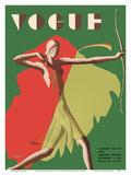 Vogue Magazine Cover - September  1931 - Female Archer