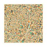 Madrid Map Reproduction d'art par Jazzberry Blue