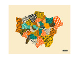 London Boroughs Reproduction d'art par Jazzberry Blue
