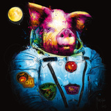 Pig in Space Reproduction d'art par Patrice Murciano