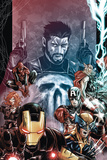 Punisher: War Zone No 2: Punisher  Iron Man  Wolverine  Captain America  Black Widow  Spider-Man