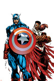 Captain America & The Falcon No1 Cover: Captain America and Falcon
