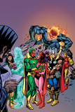 Avengers: Vision And The Scarlet Cover: Vision  Scarlet Witch  Thor  Iron Man and Dormammu