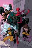 Avenging Spider-Man No 16: Spider-Man  Storm  Beast  Iceman  Wolverine  Shadowcat  Lockheed