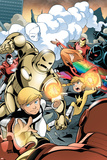 Iron Man And Power Pack No3 Cover: Zero-G  Lightspeed and Energizer