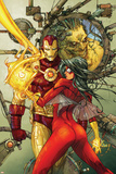 Astonishing Tales No3 Cover: Spider Woman and Iron Man