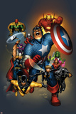 The Official Handbook Of The Marvel Universe: Avengers 2004 Cover: Captain America