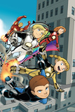 Iron Man And Power Pack No4 Cover: Lightspeed  Mass Master  Zero-G and Energizer