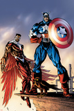 Captain America And The Falcon No3 Cover: Captain America and Falcon