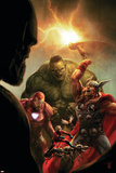 New Avengers No40 Cover: Hulk  Thor  Iron Man and Ant-Man