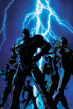 Dark Avengers No1 Cover: Iron Patriot and Ms Marvel