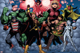 The Mighty Avengers No21 Group: US Agent  Hulk  Wasp  Hercules  Jocasta  Stature and Vision