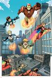 Iron Man And Power Pack No4 Group: Lightspeed  Mass Master  Zero-G  Energizer and Iron Man