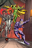 Exiles No5 Group: Vision  Ultron and Machine Man