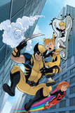 Wolverine And Power Pack No4 Cover: Wolverine  Lightspeed  Energizer  Mass Master and Zero-G