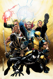 New Avengers Annual No2 Cover: Spider-Man  Wolverine  Ronin and Dr Strange