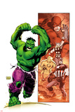 Hulk Smash Avengers No1 Cover: Hulk Running and Screaming