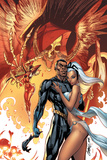 Black Panther No5 Cover: Black Panther and Storm