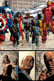 New Avengers No17 Group: Ms Marvel  Spider-Man  Wolverine  Iron Man  and Luke Cage