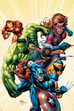 Marvel Adventures Avengers No8 Cover: Captain America