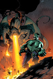 Incredible Hulk No79 Cover: Hulk and Fin Fang Foom Flying