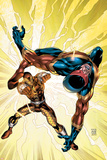 New Thunderbolts No8 Cover: Shocker and Speed Demon Fighting