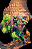 The New Thunderbolts No5 Cover: Joystick  Beetle  Radioactive Man and New Thunderbolts