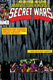 Secret Wars No4 Cover: Hulk and Captain America