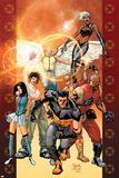 Ultimate X-Men No84 Cover: Wolverine  Bishop  Angel  Storm  Pyro  Dazzler and Psylocke