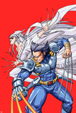New Mangaverse No2 Cover: Wolverine and Lady Deathstrike Fighting