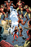 Iron Man And Power Pack No3 Group: Zero-G  Lightspeed and Iron Man