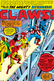 Avengers No144 Group: Captain America  Iron Man  Vision  Beast and Avengers Flying