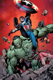 Ultimate Avengers No4 Cover: Captain America  Hulk  Red Wasp and Black Widow