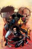 Young Avengers No9 Cover: Bishop  Kate  Hulkling  Vision and Patriot