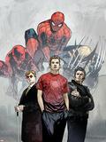 Powerless No1 Cover: Spider-Man  Peter Parker  Wolverine  Daredevil  Matt Murdock and Logan