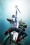 Dark Reign: Mister Negative No1 Cover: Mr Negative and Spider-Man