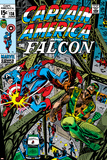 Captain America & The Falcon No13 Cover: Captain America  Falcon and Spider-Man