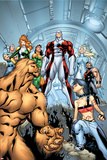 Alpha Flight No6 Cover: Sasquatch  Major Mapleleaf and Alpha Flight