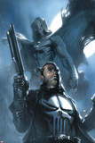 Moon Knight No26 Cover: Punisher and Moon Knight