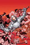 Avengers No22 Cover: Ultron and Avengers